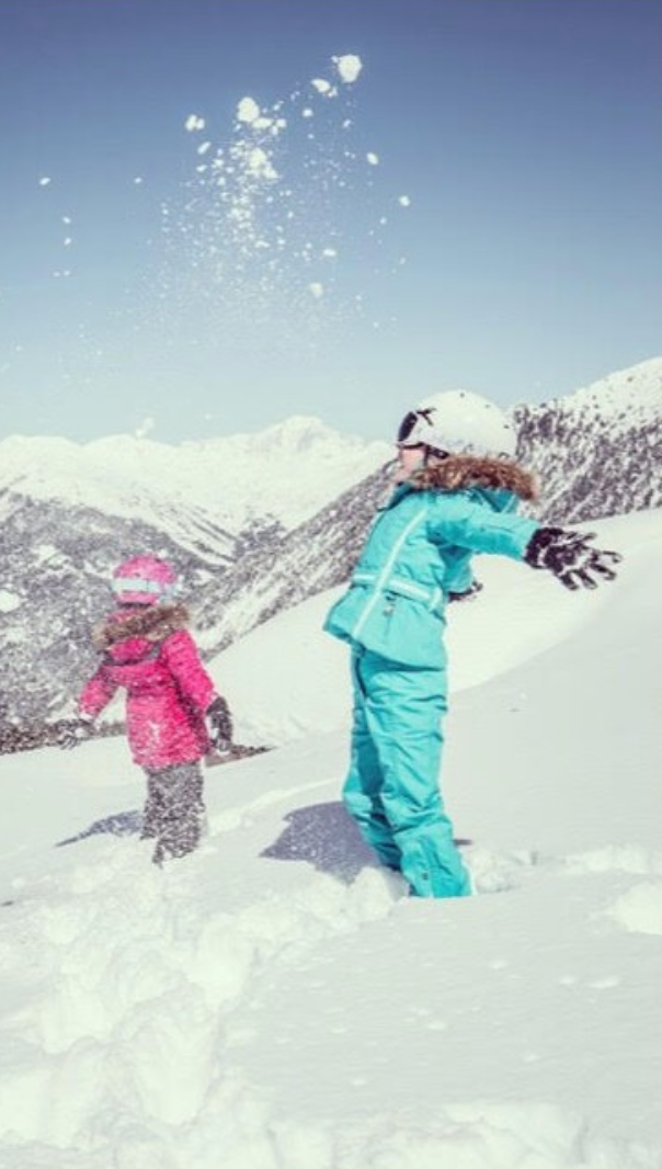 Kids' essential ski kit checklist - HatGloves (that tie on to a jacket if they are two to five years)Thermal layersOver layer or jumperSki suit or jacket and trousersSnood (better than a scarf)Thick ski socksSunglasses or gogglesI Pad with games and moviesTravel sickness pillsLip salveSunscreenPackets of tissuesAny special allergy food