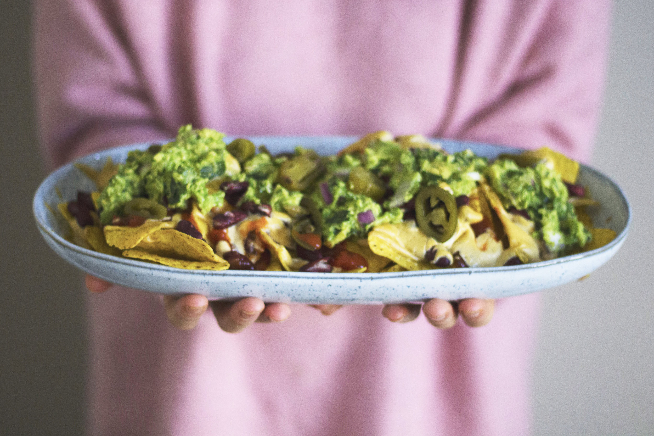 Perfect for a party or movie night, these loaded nachos will leave your drooling. - prep time 5 mins     total time 10 mins      serves 4
