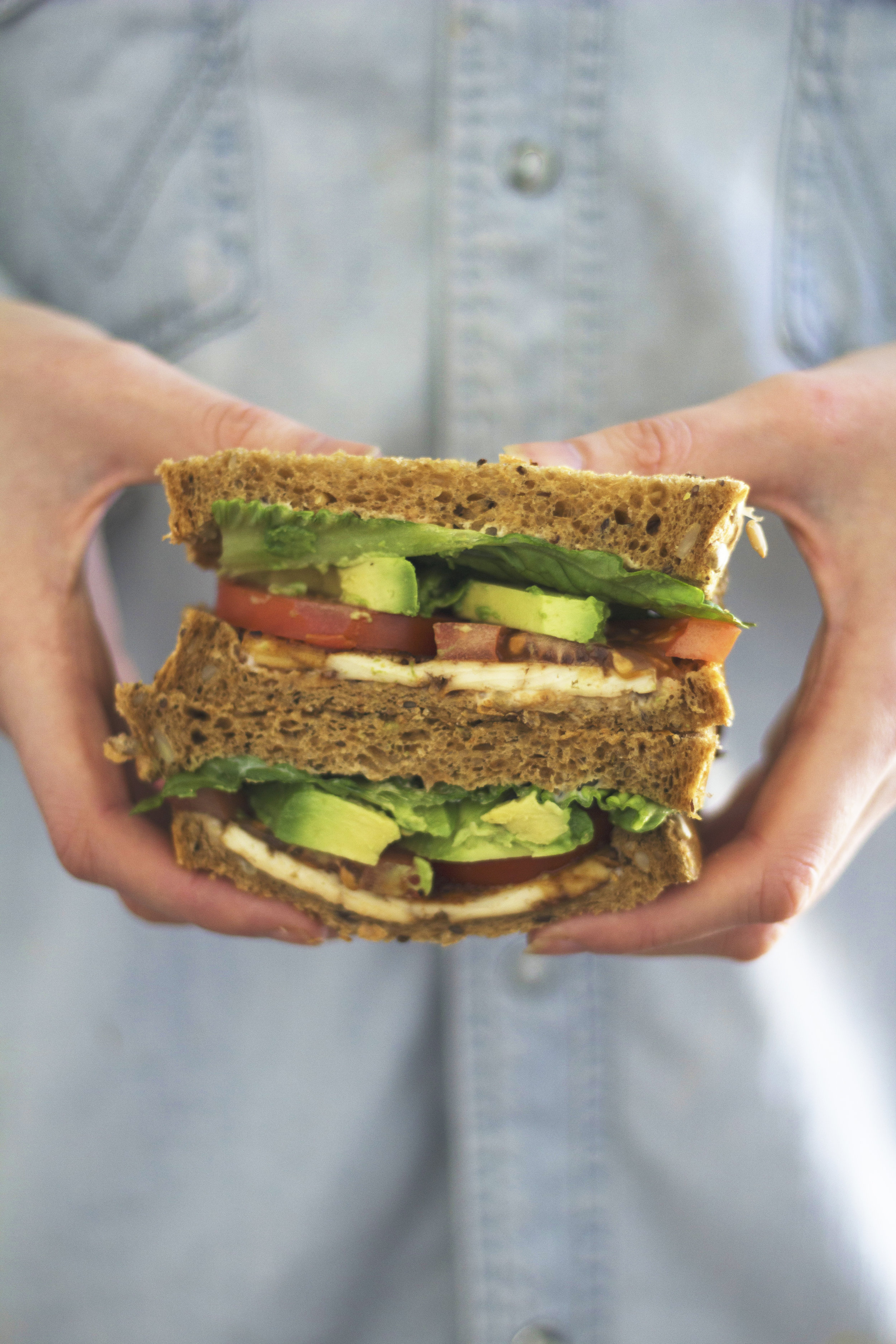 Forget BLT, try a TLT! Vegan, high in protein and simply delicious! - prep time5 mins  total time 25 mins  serves 2