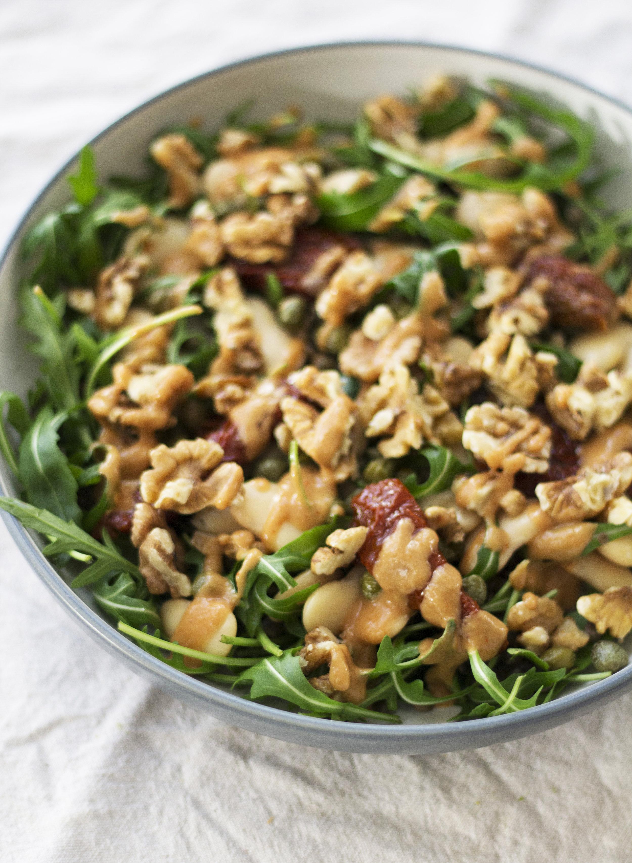 This filling summer salad packs 45g of protein! - prep time5 mins  total time 25 mins  serves 1-2