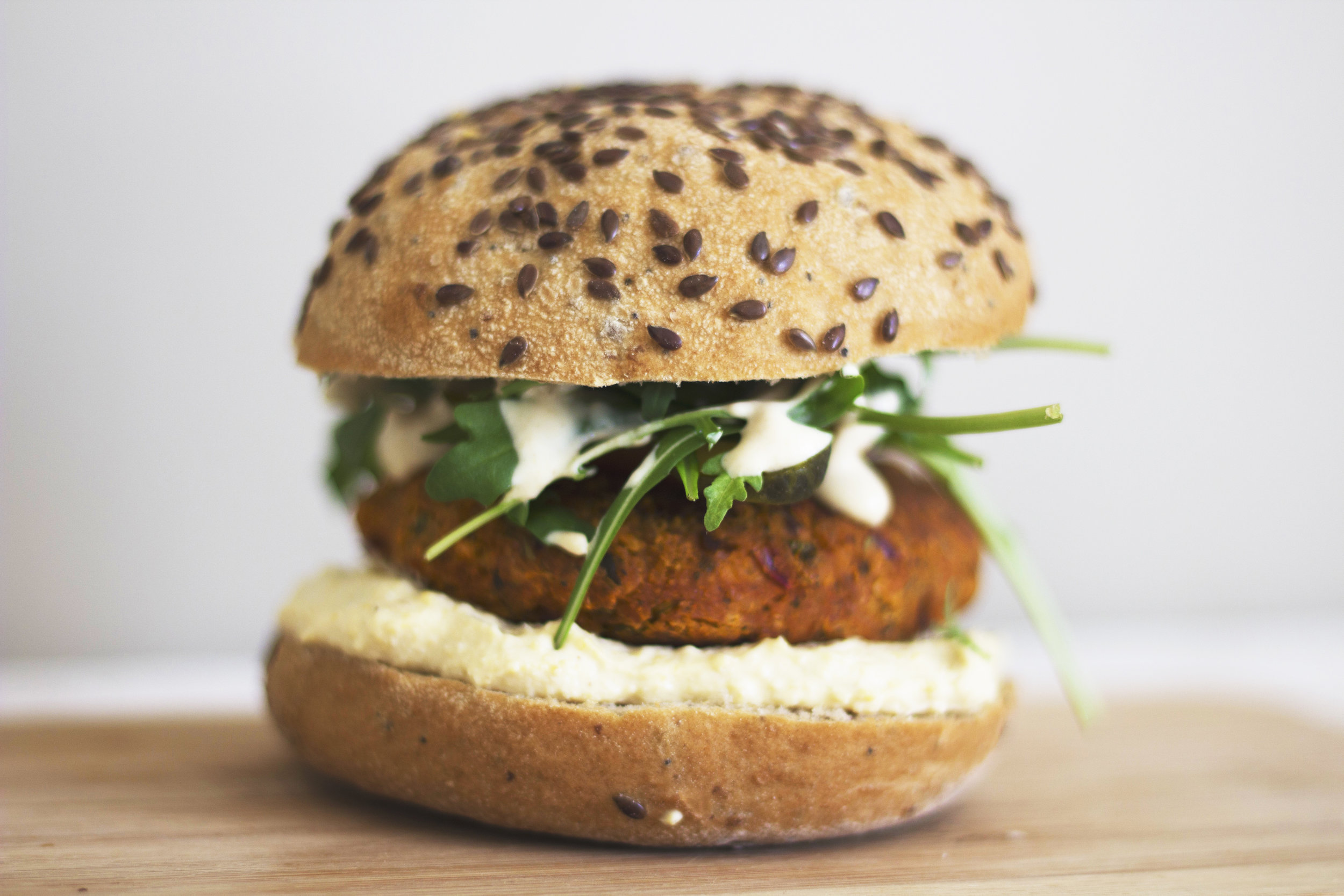 Chickpeas, spices, and herbs make these delicious vegan falafel patties. - prep time 5 mins     total time 20-40 mins     serves 4-5