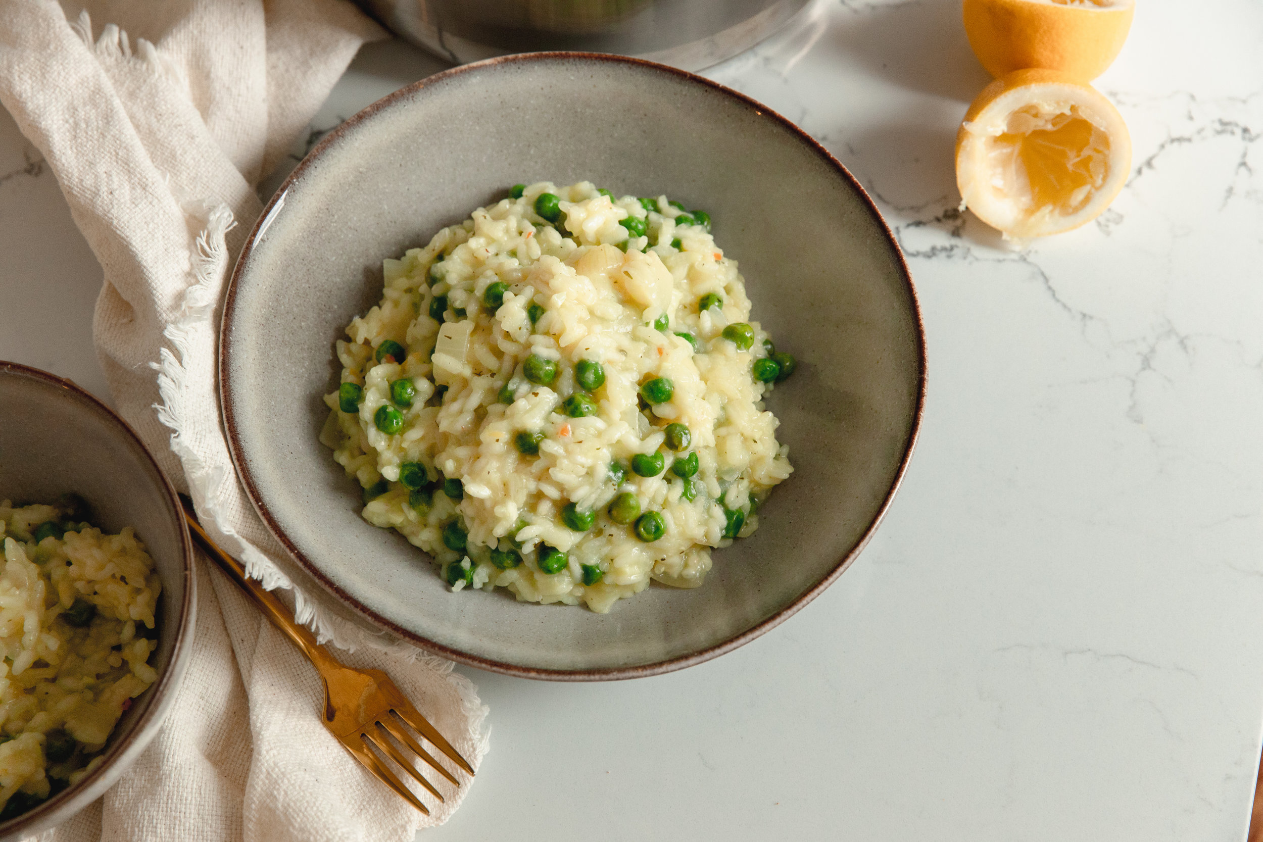 Fresh, easy and super cheap! You can't go wrong with this lemon and pea risotto. - prep time 5 mins total time 30 mins serves 4