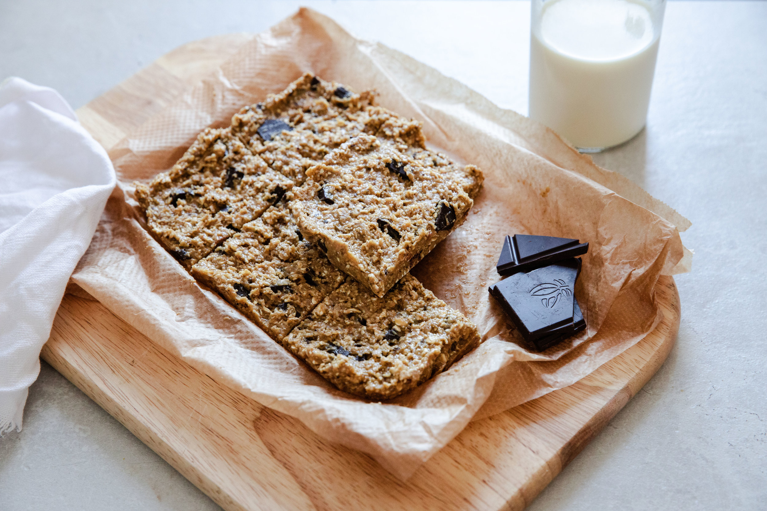 Ideal as a protein packed pick me up throughout the day! - prep time overnight total time 5-10 mins makes 6 bars