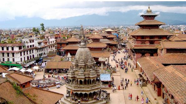 Aerial view of Bhaktapur, Nepal