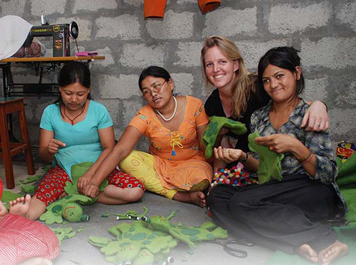 CEO and Founder, Steph Woollard get involved at a craft session
