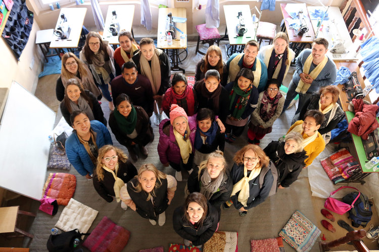 2018 Deakin University group checking out the Seven Women Centre in Kathmandu