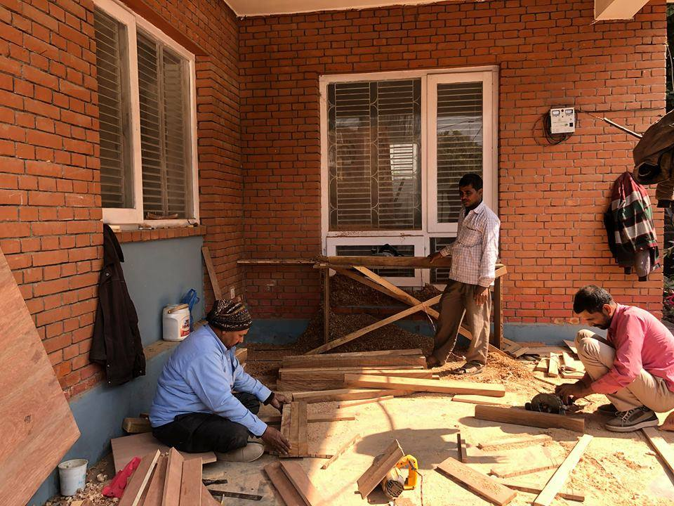 Construction of our guesthouse in Kathmandu is in full swing!