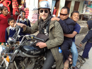 Photographer and motorbike extraodinarie Lachie MacGarvie ready to go