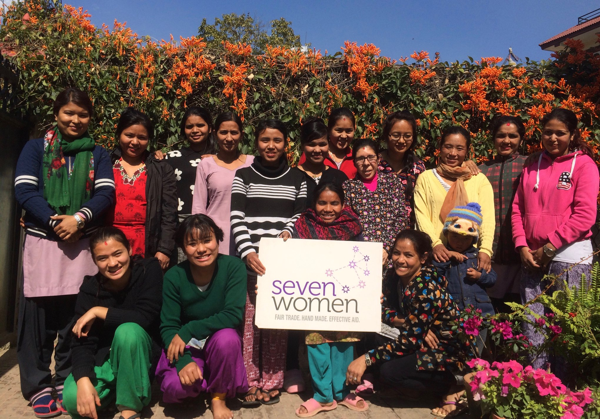 Some of the wonderful women we work with at the Seven Women Centre in Kathmandu