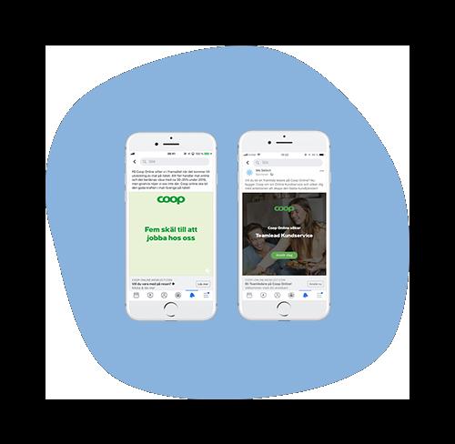 Projektet i korthet - Coop Online, nätbutiken för en av Sveriges ledande kedjor inom dagligvaruhandeln, sökte en Teamlead till sin kundtjänstavdelning. De valde tvåstegsannonsering via We Select eftersom formatet matchade perfekt med att man ville lyfta fram den digitala aspekten i tjänsten, samt på vilket sätt Coop Online särskiljer sig från Coop-butikerna. Annonseringen ledde till över 100 ansökningar till tjänsten och att totalt två toppkandidater anställdes.