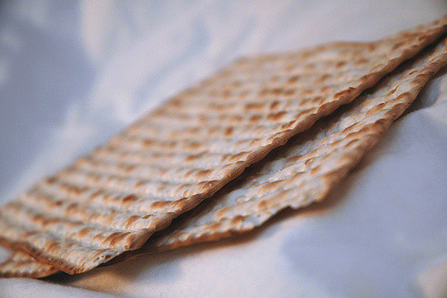 Matzo ready to be pancaked. Photo by  Paurian/Flickr.