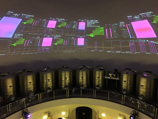 A view of FILCS, the Palmaz Vineyards Fermentation Intelligence Logic Control System. Photo by Larissa Zimberoff