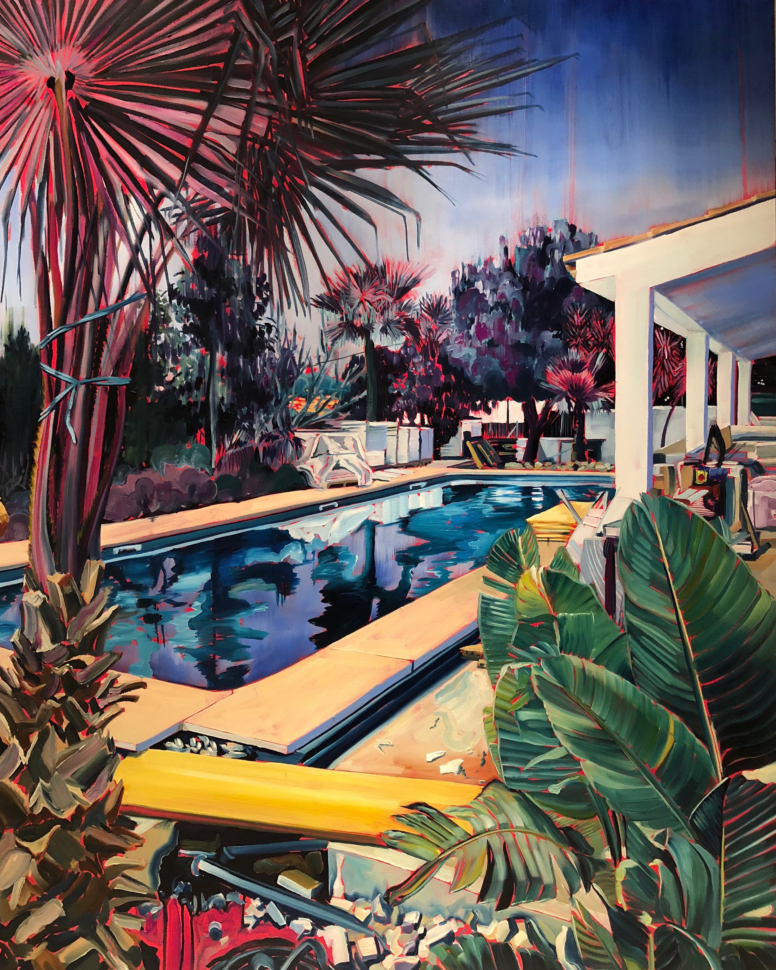 Calvia House - oil on canvas - 5 x 4 ft