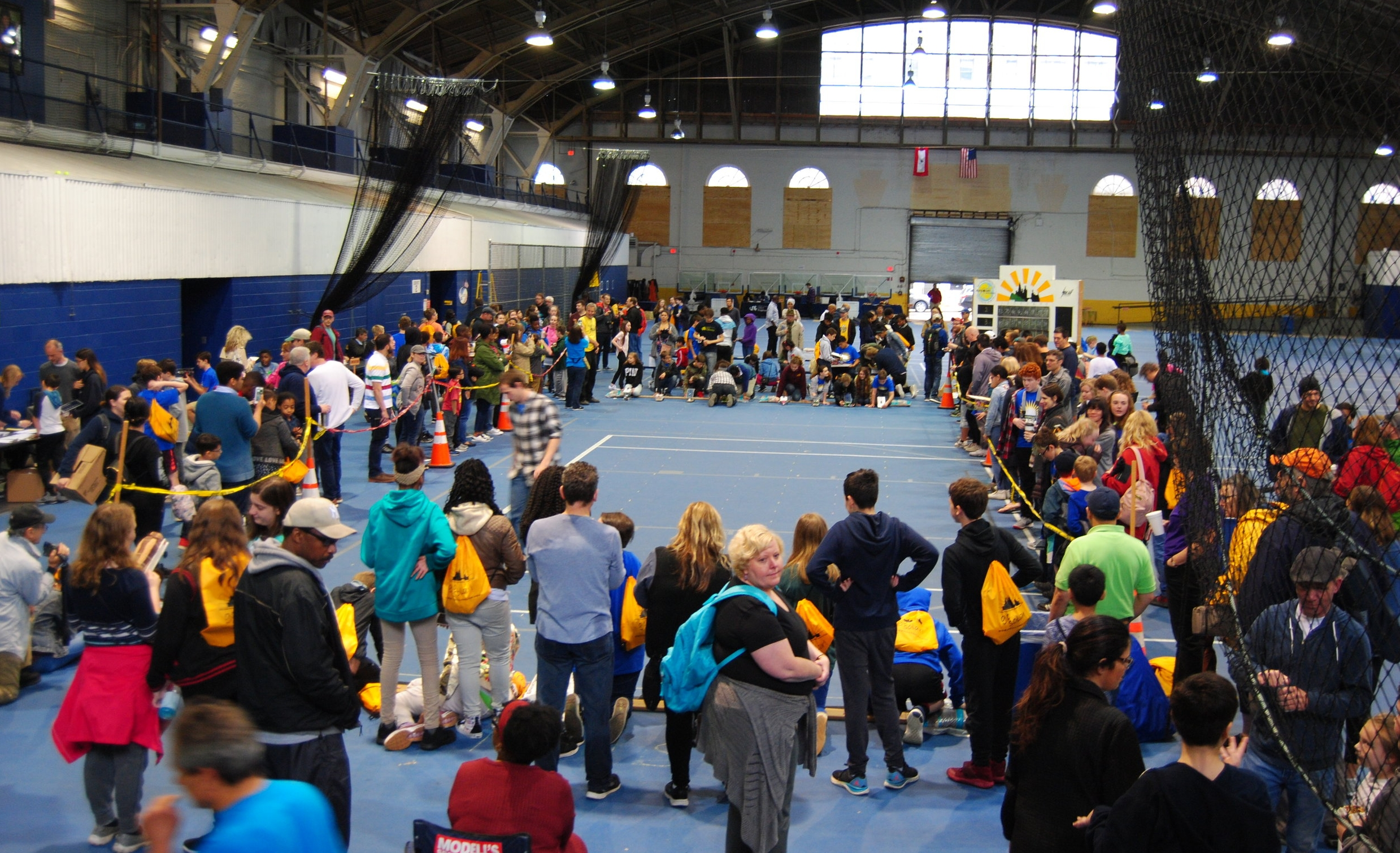 Indoor racing at the Drexel Armory