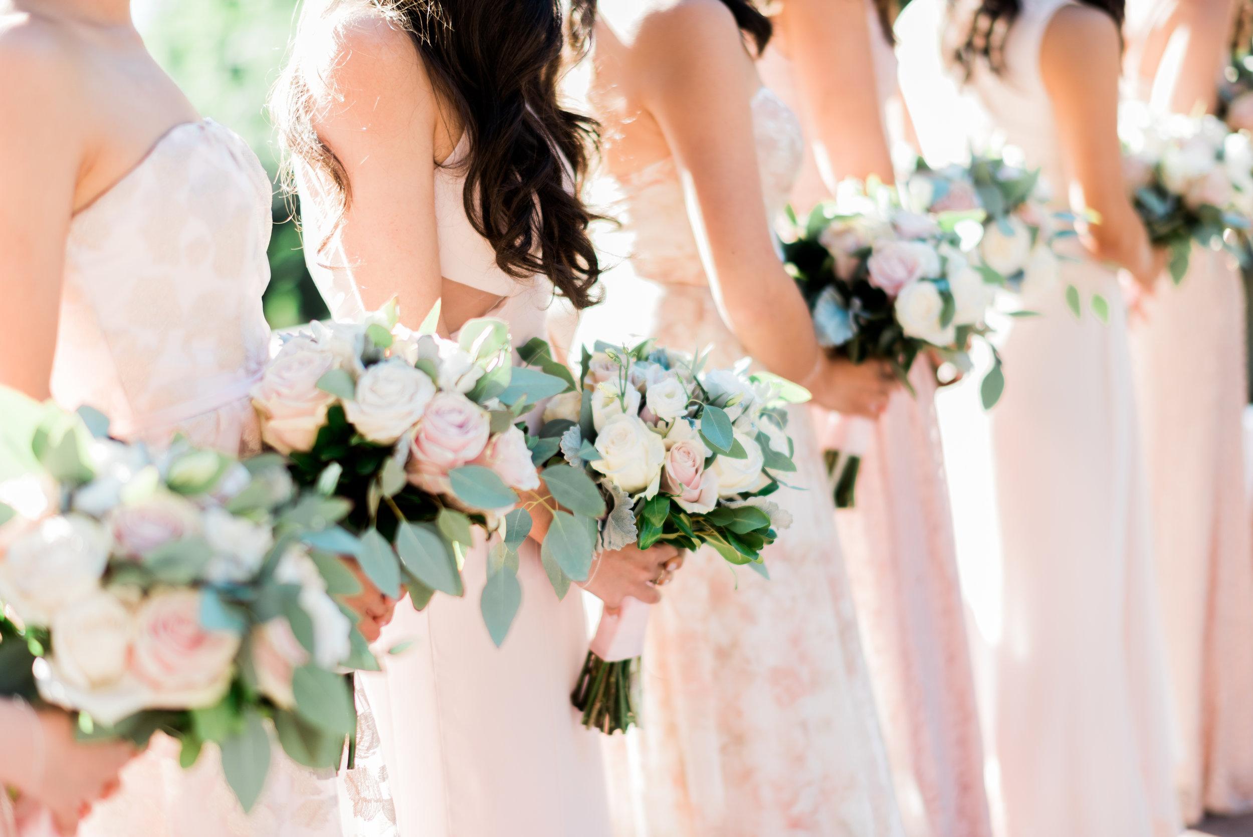 blush bridesmaids bouquet