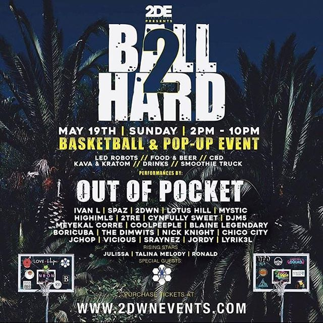 There's a whole lotta good reasons to come out for some basketball this Sunday!  We'll be tearing down another performance along side a whole slew of talented individuals from across South Florida   Big shout to @2dwnevents for yet another dope event bringing us down to Miami. Get your tickets now!!
