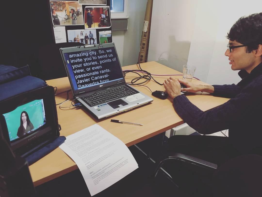 Producing a London360 TV show - April 2016.