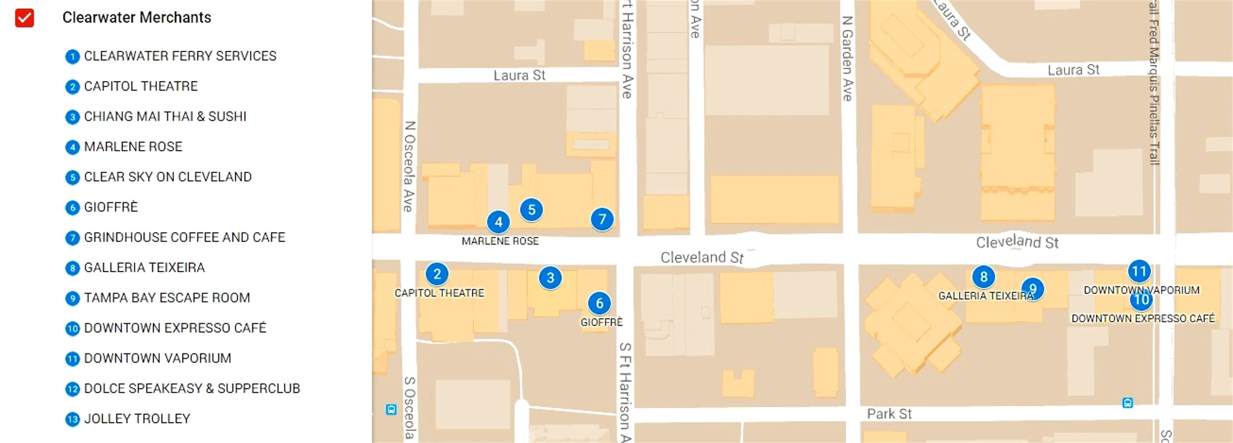 Downtown_Clearwater_Merchant_association_Member_map_tampa_bay_beach_florida.jpg