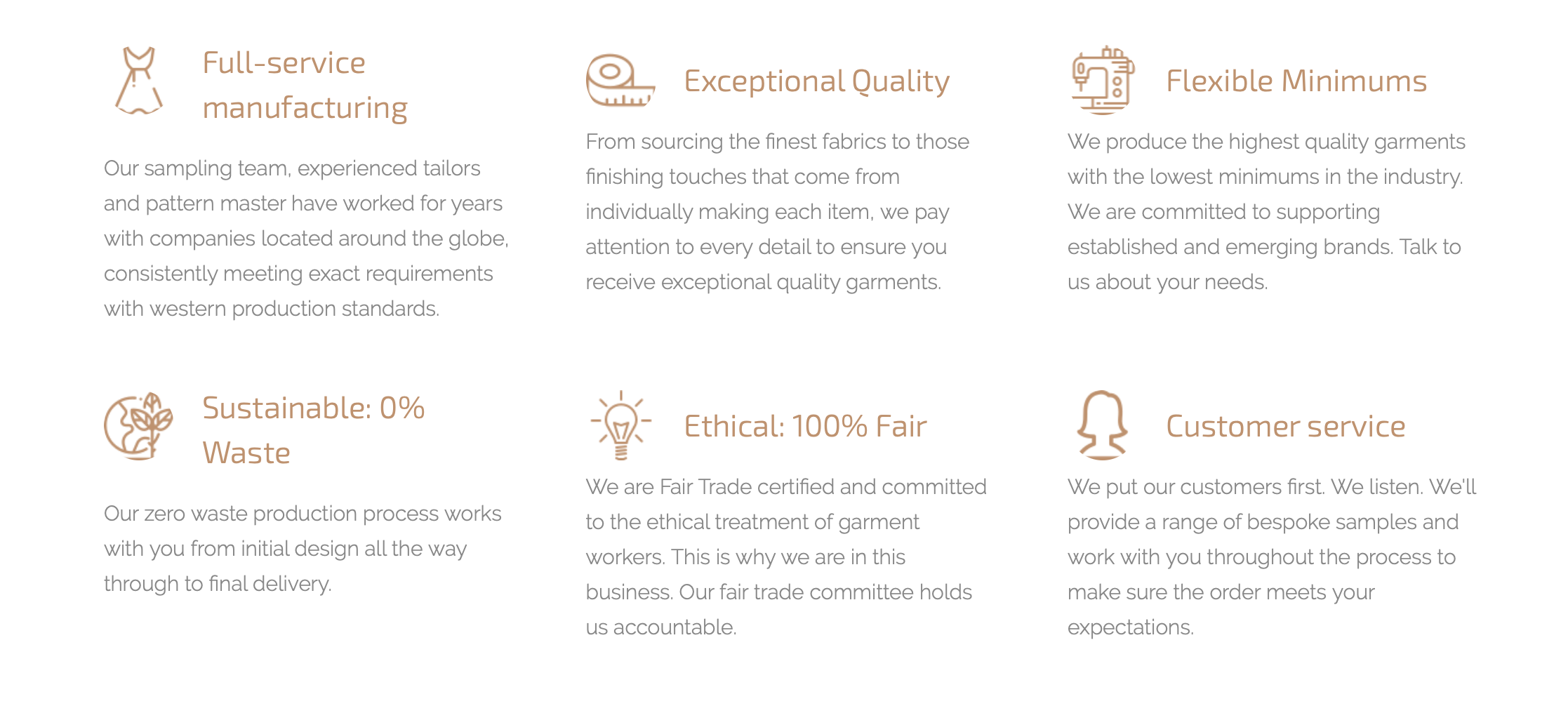 Visible's values, from the Visible.Clothing website.