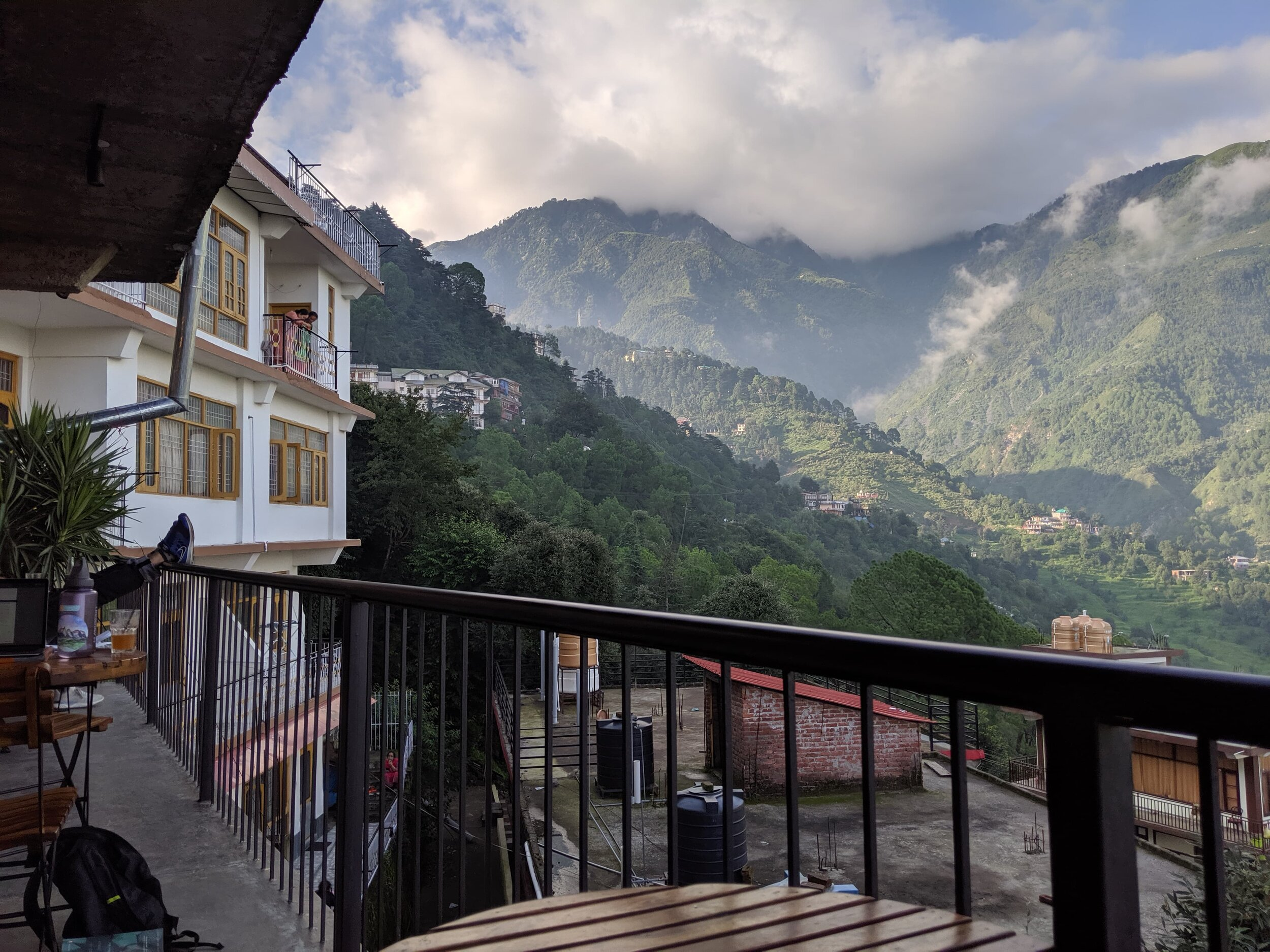 Dharamshala from a local cafe.