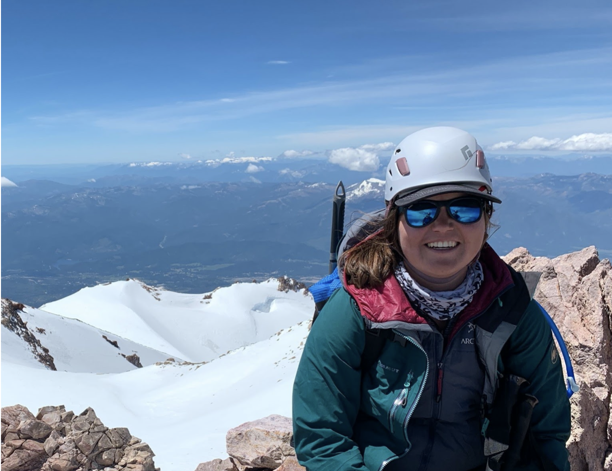 Ashley on the Mount Shasta Summit!