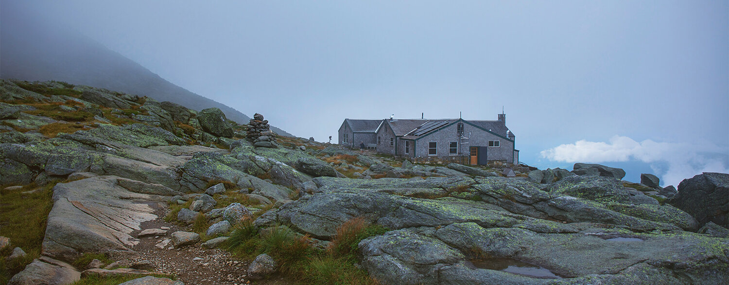 The Lake of the Clouds Hut, one of many places you could travel to with the Appalachian Mountain Club!