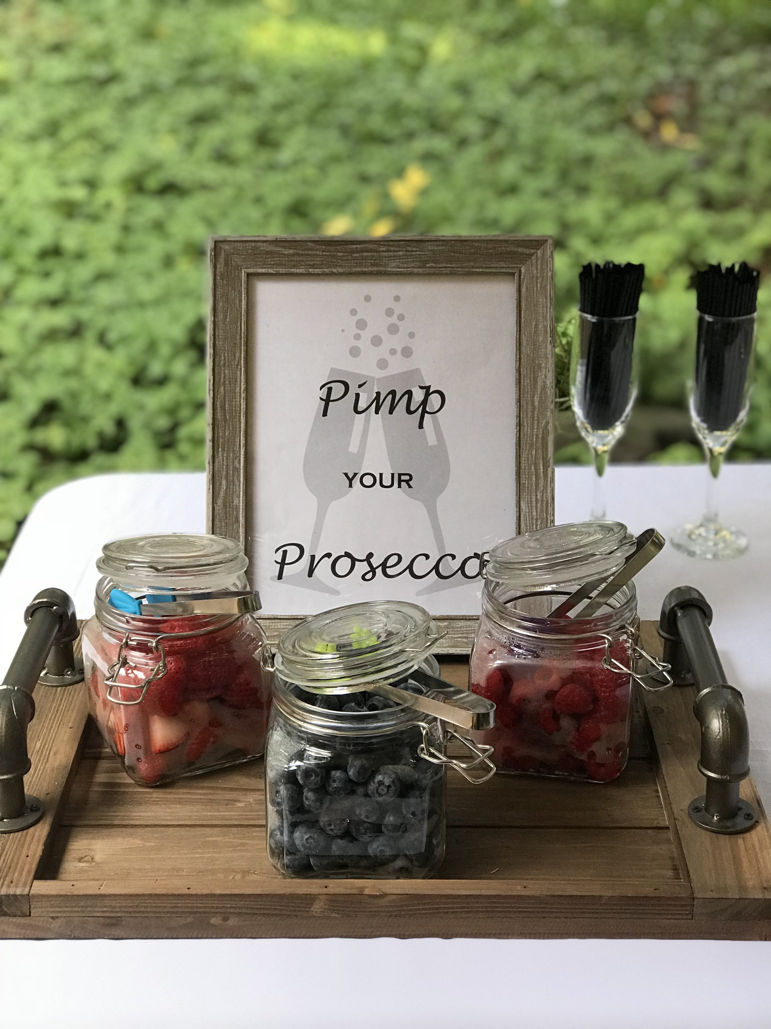 Pimp Your Prosecco Bar  Complimentary with purchase of Prosecco  keg