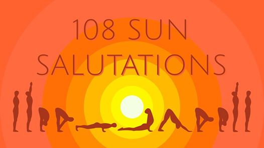 """Join us for this special morning!!        June 21, 2019        7AM     The Bicentennial Park    Why 108???  Exactly how yogis arrived at 108 we don't know but it seems to be a number that connects us to our place in the cosmic order.  *The distance between the earth and the sun is 108 times the diameter of the sun  *There are 108 energy lines (nadis) that form our heart chakra  *There are 108 pressure points or sacred points of the body  * In yoga we are often reminded that """"as above, so below""""  Draw a five pointed star (representing a human being) inside a circle (planet) we find 108 degrees from every angle   Please note:  108 is NOT mandatory, and if you feel you've done enough you ca just rest and join in again if and when you're ready to!                                 REGISTRATION REQUIRED BY WEDNESDAY, JUNE 19TH!!    Call or email to register:  330-760-4009    greenlotuslebanon@gmail.com    Plan to meet at the park.    Cost is $10.00, cash please! (easier and quicker)         Class begins at 7AM (expect to stay 1 1/2hrs)  In case of rain, we will move indoors"""