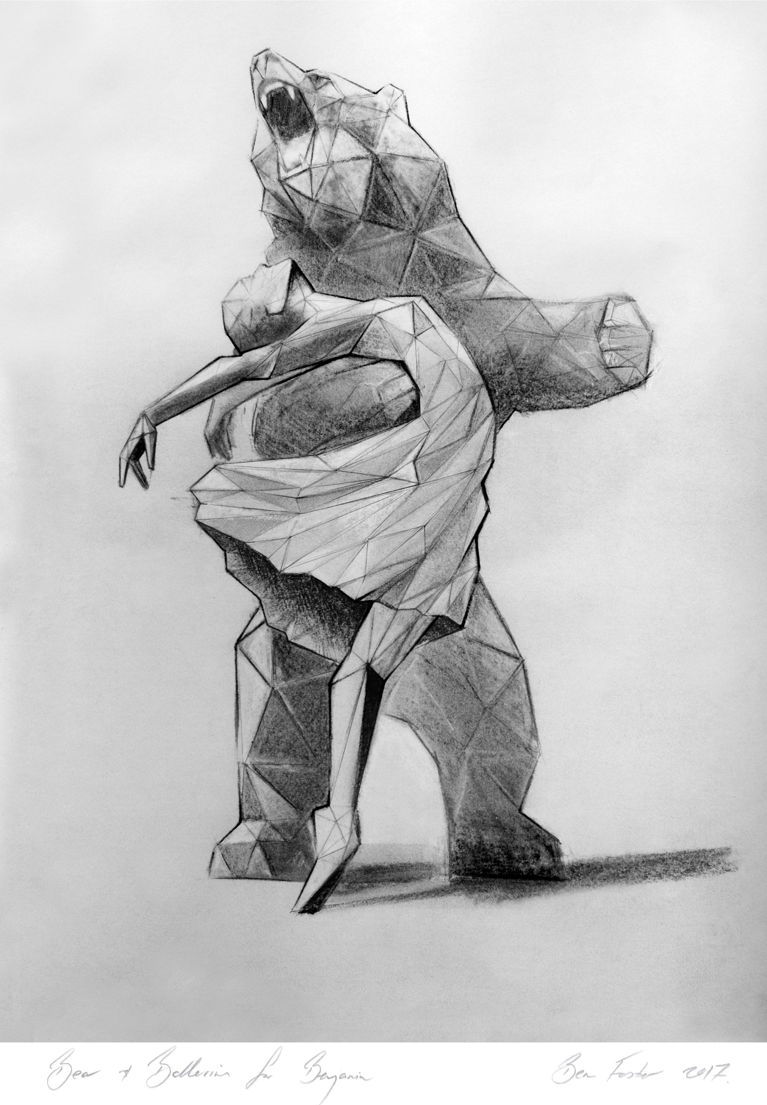 The Bear and Ballerina concept sketch by Ben Foster