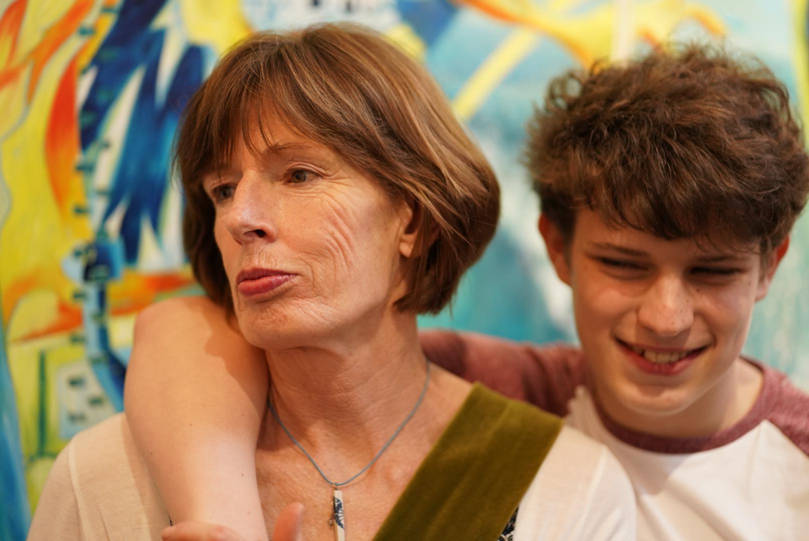 My mum Annie and son Drew
