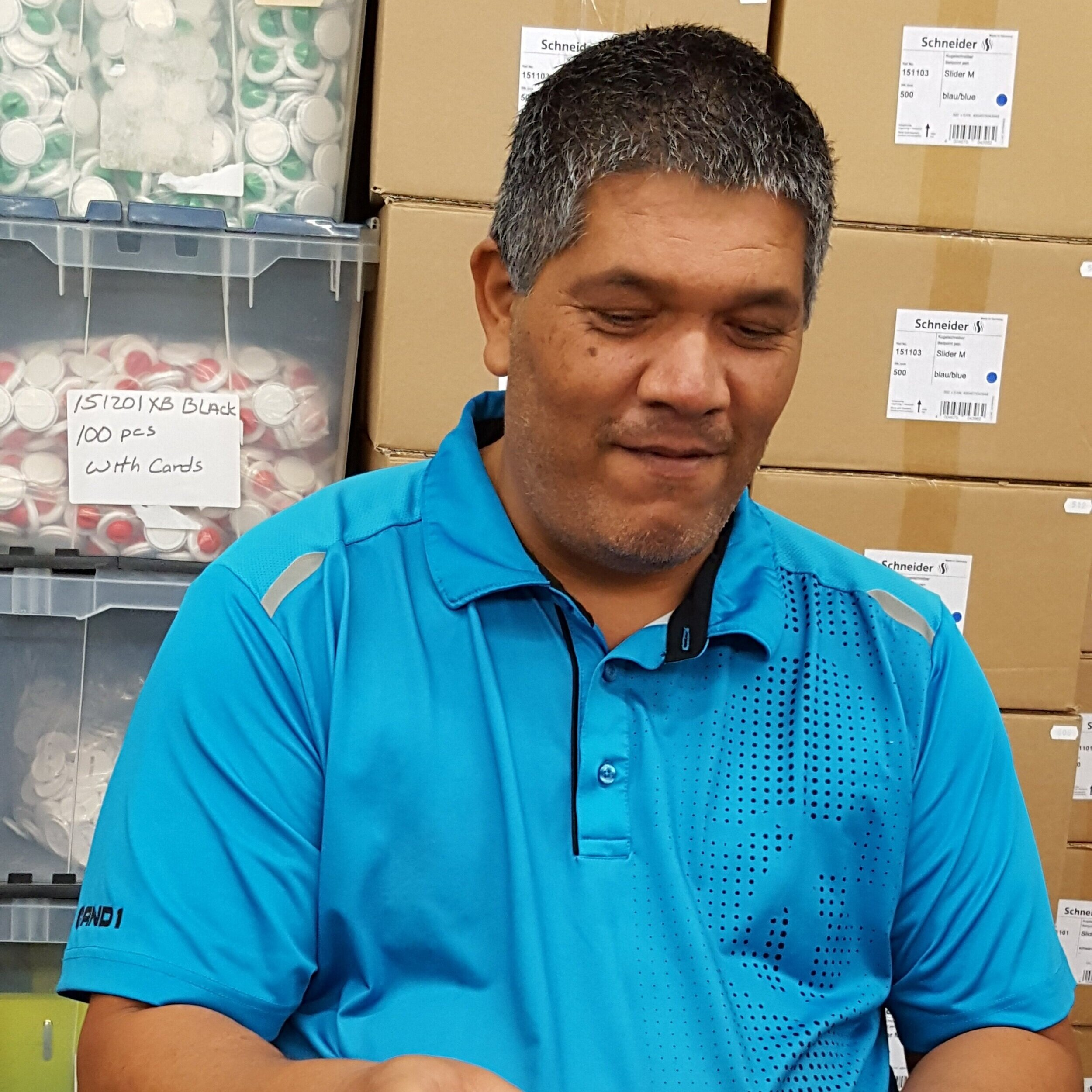 Victor has advanced within the company and is the head of Shipping & Receiving.