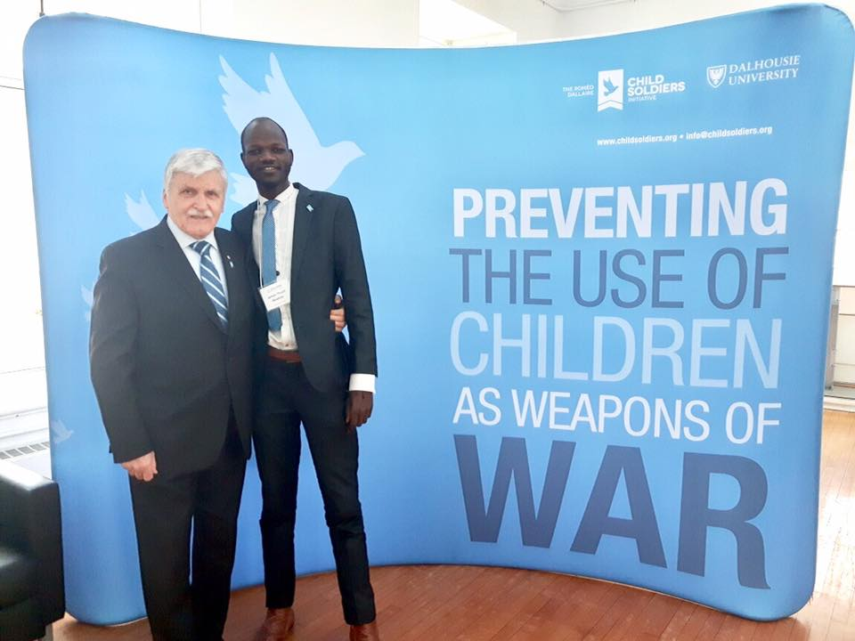 James Madhier with Lt. General (Ret). Roméo Dallaire. Rainmaker provides children with the opportunity to dream, eliminating the possibility of being used as weapons of war.