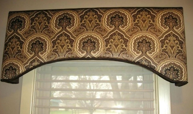 Fabric wrapped cornices are planks of wood wrapped in a decorative fabric that are positioned above a window to further enhance a room.
