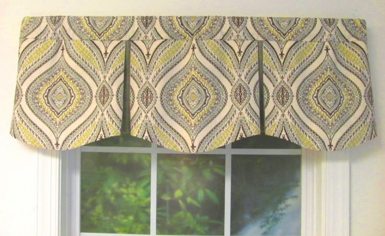 Fabric valances are decorative fabrics that are positioned above a window to further enhance a room.