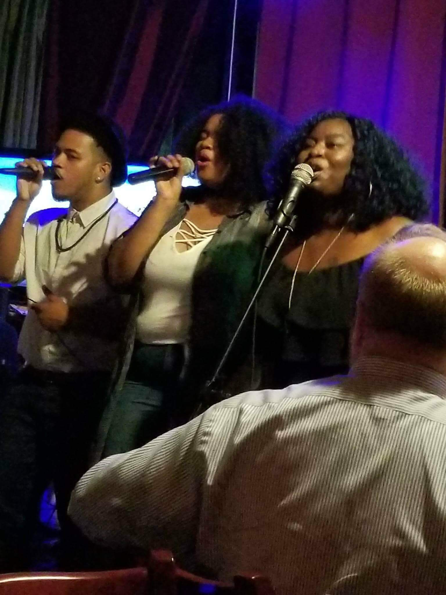Lynne Summers (far right) performing at Nabe in Harlem, NY.