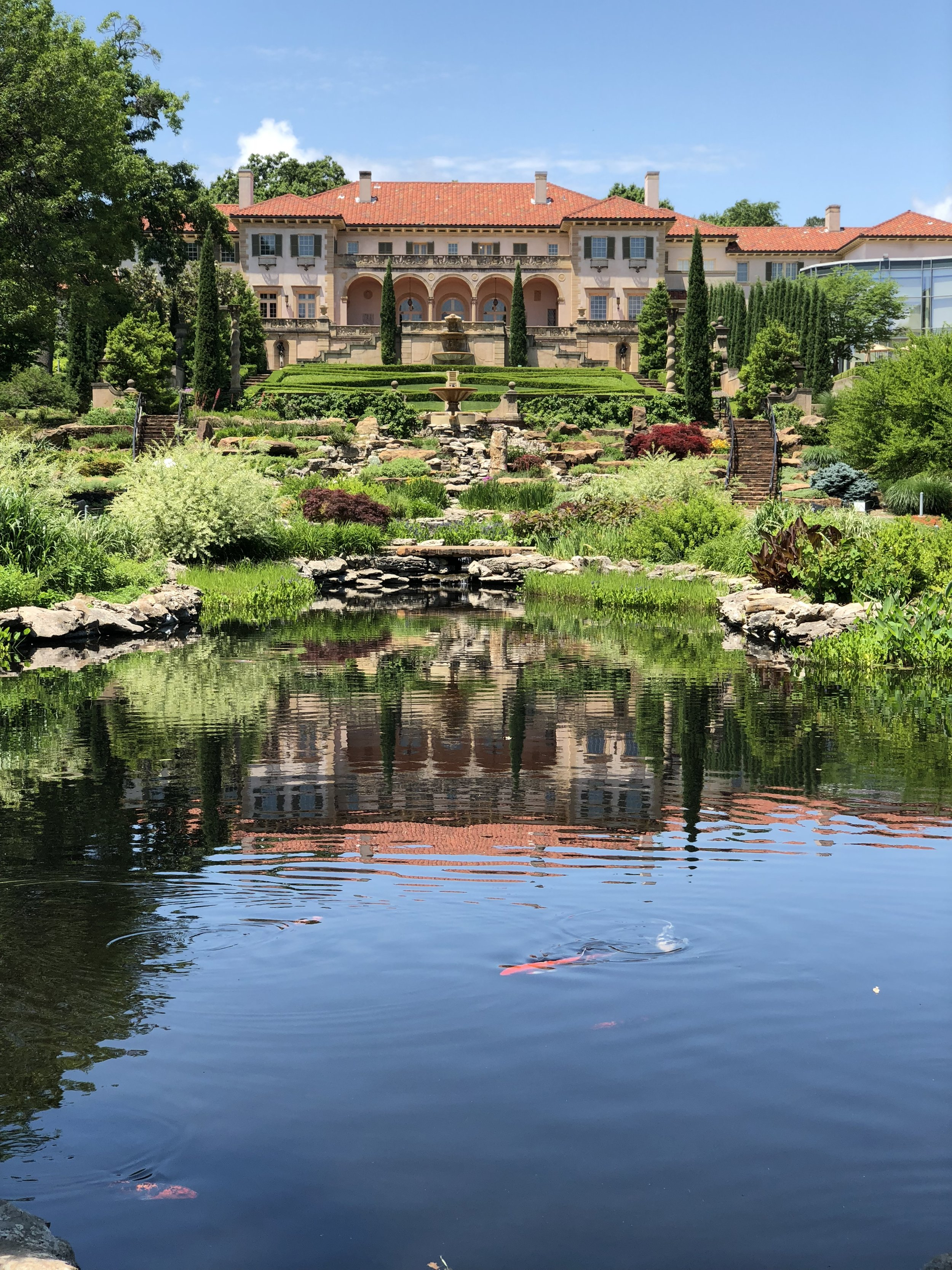 The gardens at Philbrook are basically 25 acres of lush beauty.  There are several sculptures and it's just a place you want to visit over and over again.