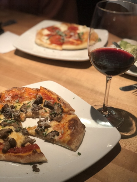 Date night! This Psycho Shroom pizza from Upper Crust Wood Fires Pizza in Tulsa, Oklahoma was delicious! I'm a sucker for anything drizzled with truffle oil! This Portillo Malbec was a perfect wine pairing.