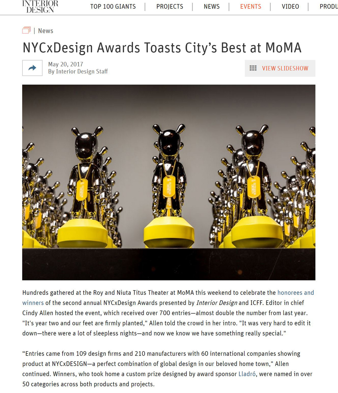 Interior Design: NYCxDesign Awards Toasts City's Best at MoMA including Kaynemaile