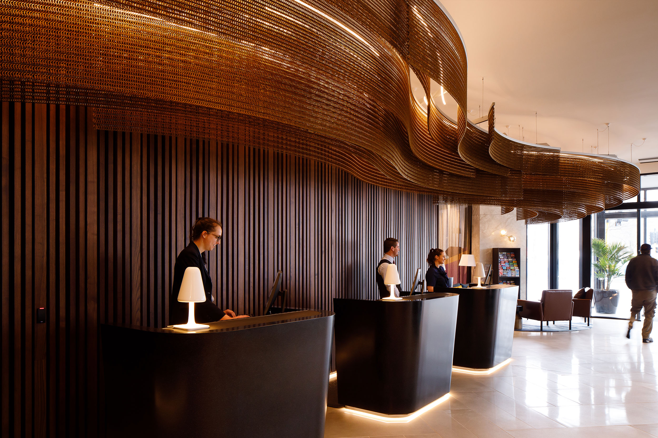 Sculptural Hotel Ceiling Feature for Crowne Plaza Hotel  Christchurch, New Zealand    Explore →