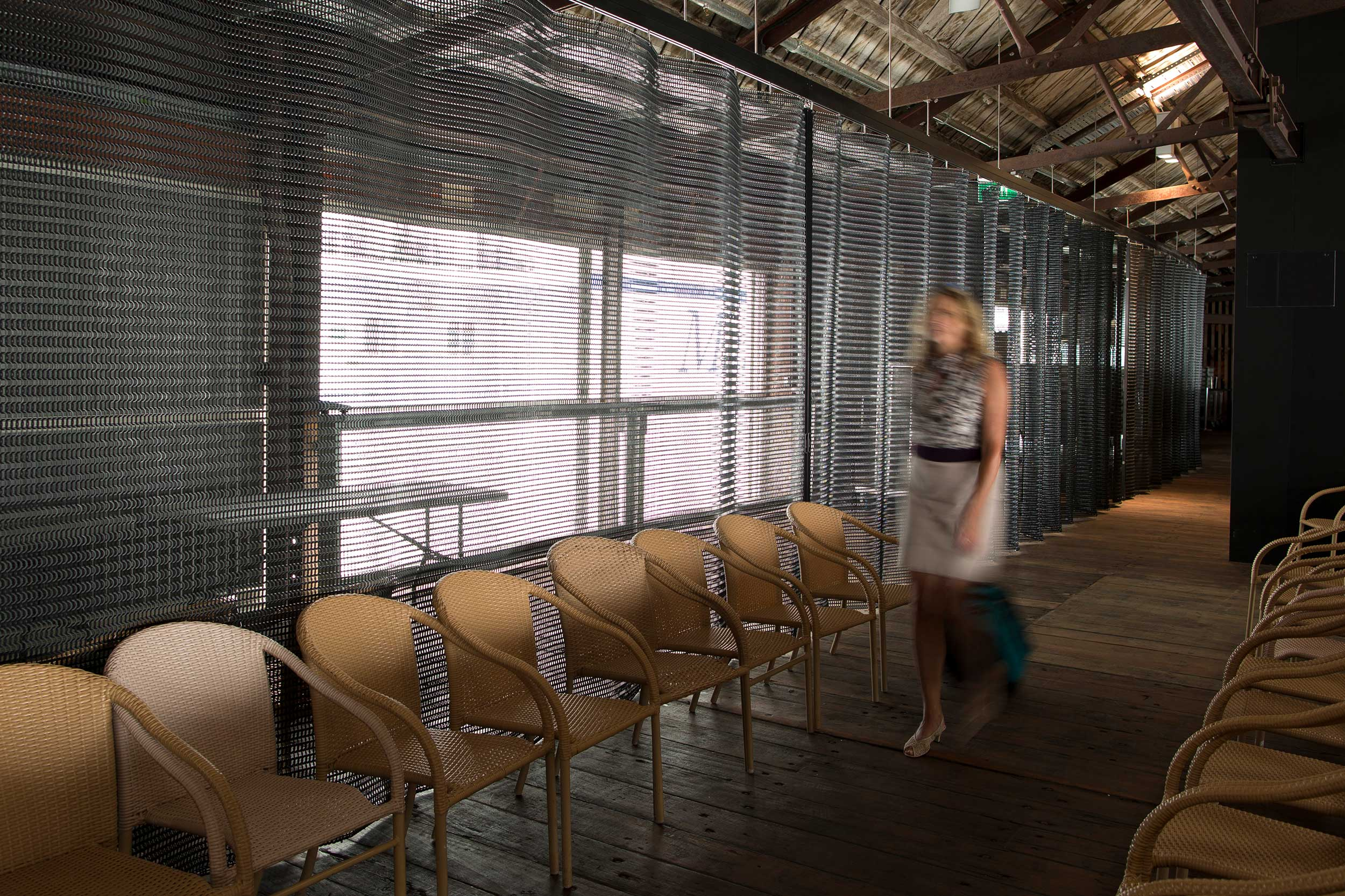 Security with Style for Cruise Ship Terminal   Shed 10 is a heritage listed events space and cruise ship terminal on Auckland City's waterfront. Kaynemaile's deterrent folding screens were chosen to compliment the historical aesthetic of the building, provide security and...  Read more