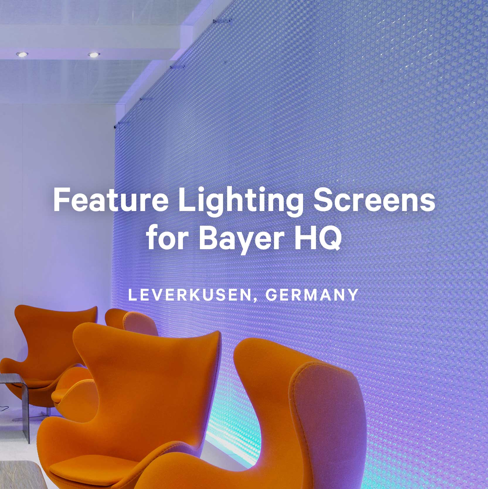 Feature Lighting Screens for Bayer HQ