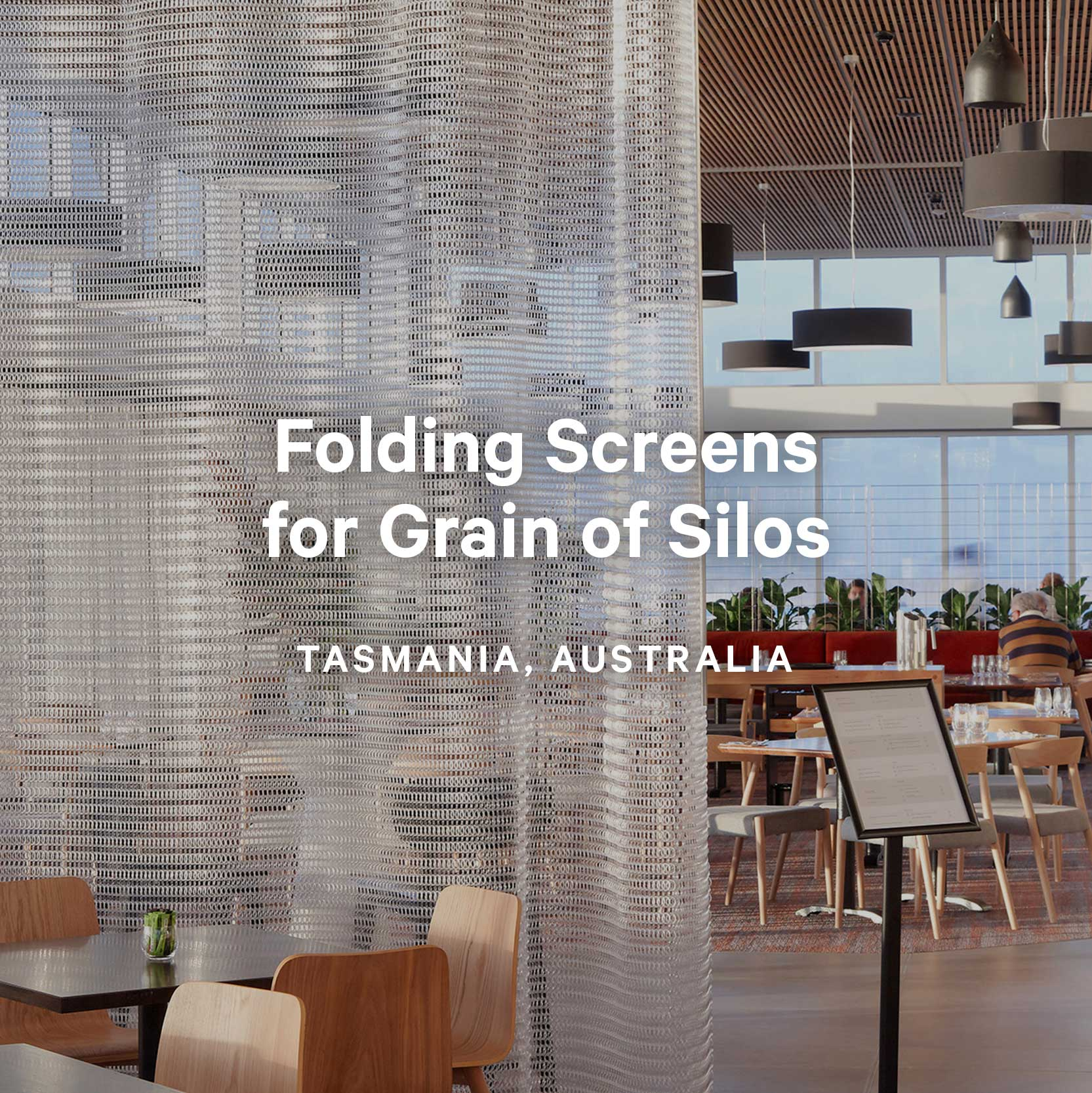 Folding Screens for Grain of Silos