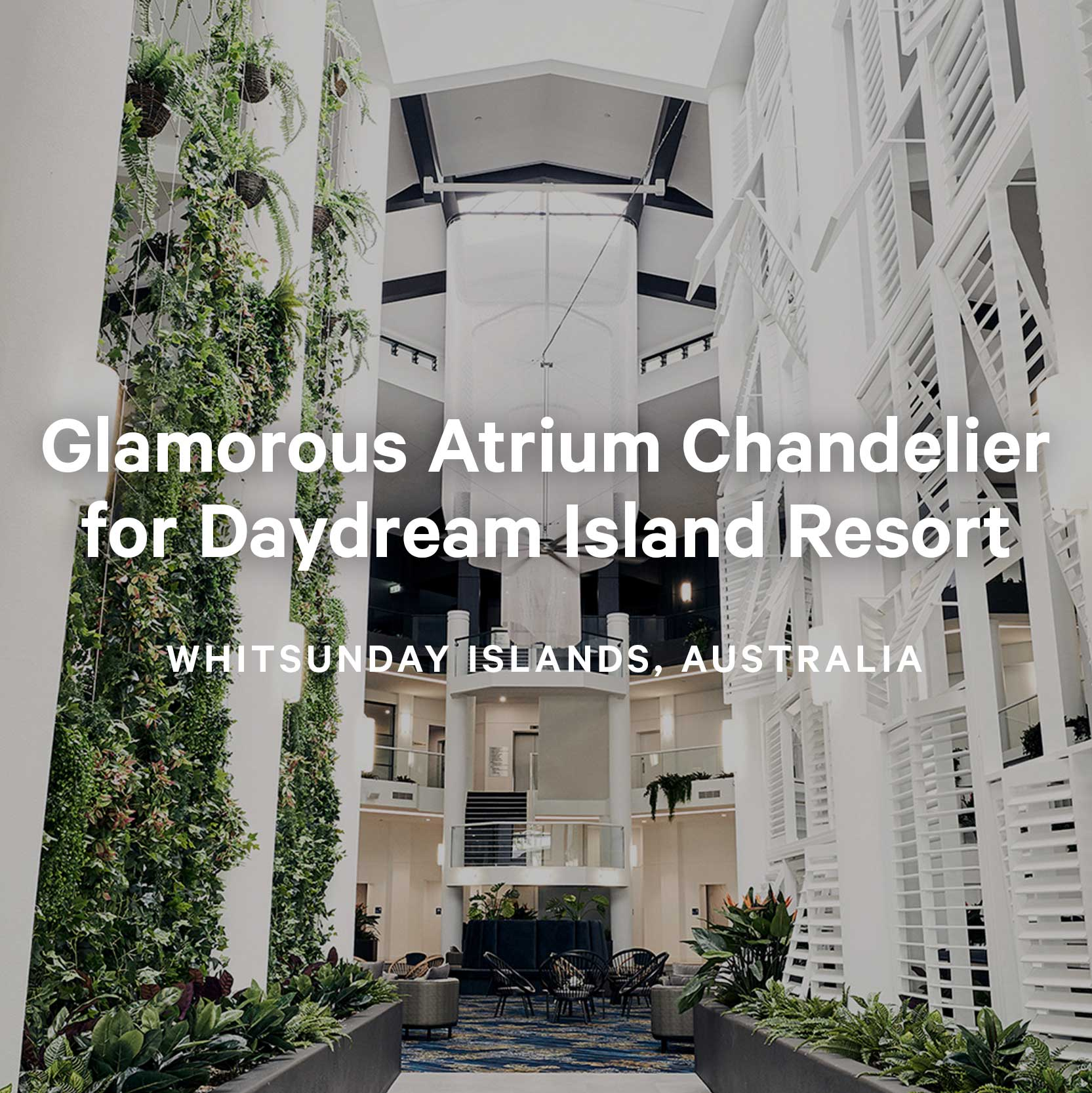 Daydream Island Resort Chandelier by Kaynemaile