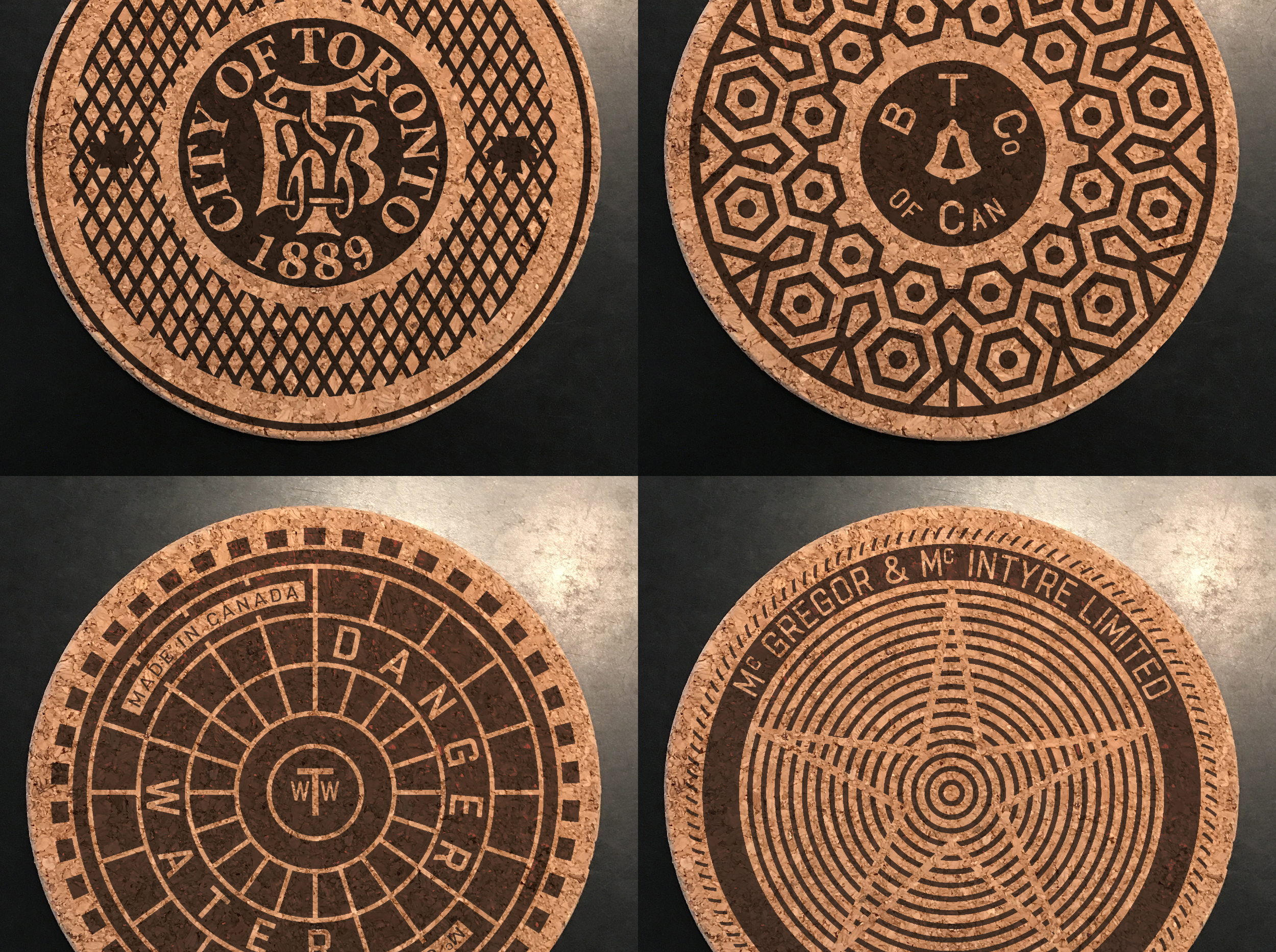 see the 6ix coasters and trivets at The art gallery of ontario. - Visit the AGO in Toronto to purchase them; just not at 5am.