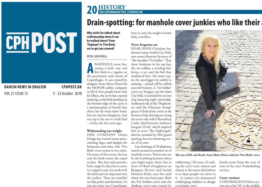 Rethinktank in the cph post - Ron Graybill's article on Copenhagen manhole covers mentions RethinkTANK's Under Cover series