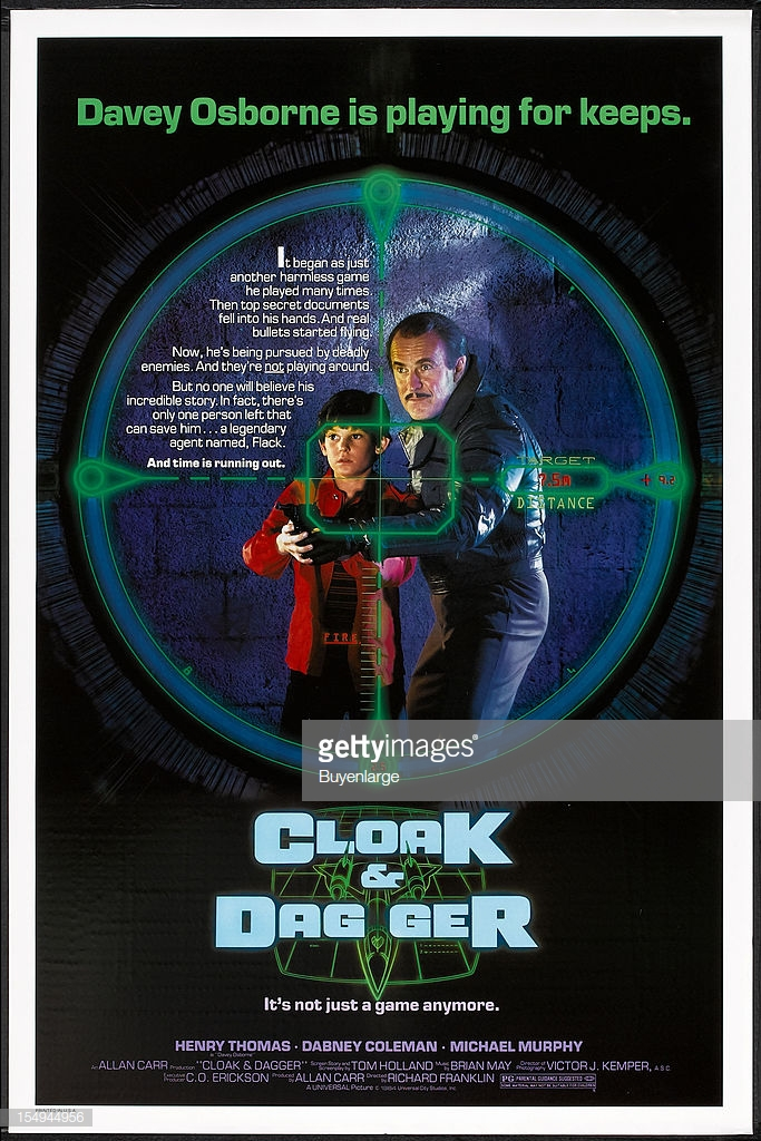 Whoops. Wrong Cloak & Dagger. But look! Music by Brian May (of Queen)!