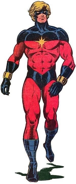 Captain Mar-Vell, aka the original (Marvel Universe) Captain Marvel.