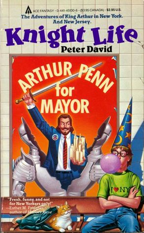 """A counter-example I bring up in the episode. If you find this book in bookstores, more likely it has the """"serious"""" cover with Excalibur coming out of the lake, but this is how I found it."""