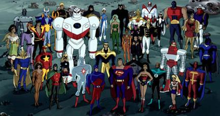 Some (but not all) of the heroes seen in Justice League Unlimited. Can you name them all?