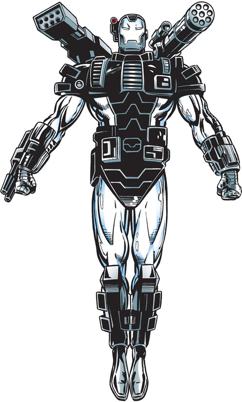 Rhodey in the War Machine suit. MCU fans will recognize this right away…